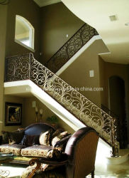 Grades de ferro forjado para etapas externas ou de escada