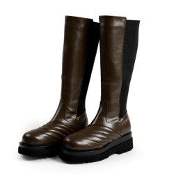 De Schoenen van vrouwen Gemerkt de Schoenen van Dames Hoge Hielen Dame Shoes Military Long Boots