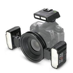 Double tête Mk-Mt24 Flash Macro Nikon Canon Appareil photo reflex dentaires pour les soins dentaires La photographie macro
