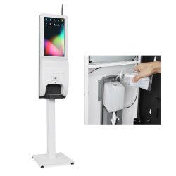 Quiosco de Información Comercial Terminal con mano automática Quiosco de pulverización Terminal con dispensador de jabón automático