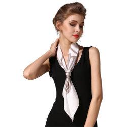 Groothandel Luxe Fashion Lady Stole Custom Printed Pure Silk Sjaal Sjaals vierkante Hijab Satin Head sjaal