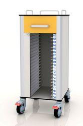تخزين ملف سجل المريض في عربة أثاث مستشفى HPL