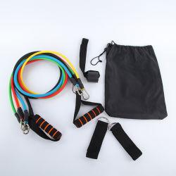 Latex-elastisches Band-Widerstand-Gefäß der Yoga-Eignung-Ausgangsübungs-11PCS