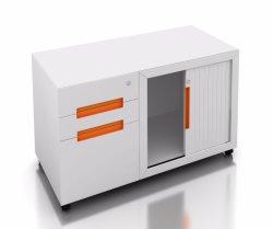 Современная мебель стали мебель для мобильных ПК выдвижными ящиками для использования внутри помещений со стойкой и Tambour