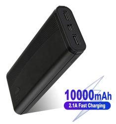 2.1A Charge rapide 10000mAh 20000mAh Duble Chargeur téléphone USB Banque d'alimentation batterie Li-polymère