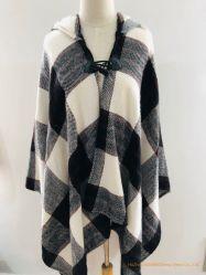 Grande scialle del plaid di inverno della sciarpa spessa all'ingrosso del cachemire per le donne