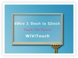 22'' (16: 9) USB 4 سلك مقاوم لمس الشاشة لوحة كيت (WVT-TP4-22-169)