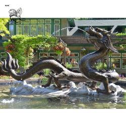 Nuevo diseño de fundición de Gran Dragón de bronce de fuente de agua Bfd-48