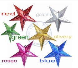 60см 24 дюйма блестящих Star бумаги Lampshade фонарики цветочный декор партии аппаратов для проведения свадеб оформлены красочными