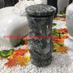 Vaso di fiore di pietra naturale del granito per la pietra tombale & la lapide