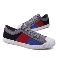 2019 Nuevos Zapatos de lona zapatos bajos vulcanizado hombres's College de costuras de Color de calzado deportivo coreano