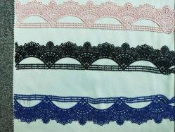 Textiles bordados de encaje de algodón vestido de encaje Collar de la cinta de tela telas de ropa interior ropa para damas Accesorios