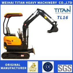 1,6 Tonnen Mini/Small Crawler Hydraulikbagger Digger Machinery