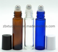 供給6ml 10mlの球のプラスチックステンレス鋼ロールが付いているガラスビンのガラス香水瓶ロール