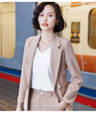 Hot Fashion Classic Elegant Special Slim Fitting Women Ladies Office Business Uniform Formele Pakken