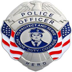 Высокое качество оптовой индивидуального логотипа полиции строп предохранительного пояса алюминиевых армии награды