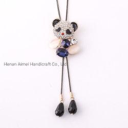 Pull en cristal unique Opal Collier mignon Panda ornement de la chaîne
