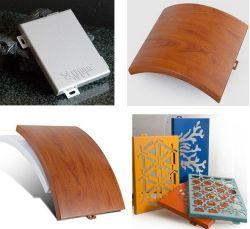 Comitato di alluminio perforato di verniciatura decorativo su ordinazione della parete divisoria del rivestimento di profilo del metallo