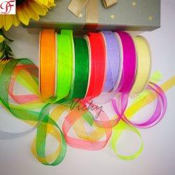 Het Nylon Zuivere Lint Organza van 100% voor het Verpakken/Decoration/Xmas/Garments