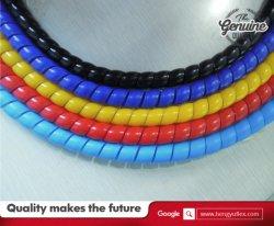 Hot Sale coin en spirale de protection de bord en plastique de protection de flexible en caoutchouc hydraulique