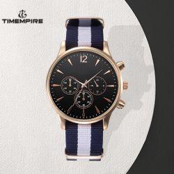 La sangle en nylon de luxe de mode chronographe Mens Watch (72718)