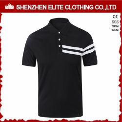 Populäre Form-Schwarzesmens-Polo-Hemd-Baumwolle 100% (ELTPSI-23)