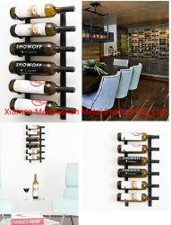 6 Flaschen-Wein-Zahnstange, zum an der Wand einzuhängen