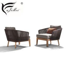 Alta calidad de la madera de teca Muebles de Exterior Patio de la azotea de sofá muebles