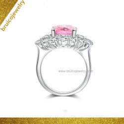 Moda mayorista 925 Plata fabricante de joyas de oro Anillo de dedo de la piedra preciosa plaza Deluxe