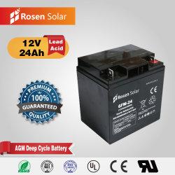 ボートのためのRosen 12V 24ah AGMの蓄電池モーターバックアップ電池