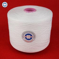 Tejido de poliéster 100pct hilada hilado y tejido de hilo de coser Semi-Dull Ne 42/2 62/3 en el tubo de teñido