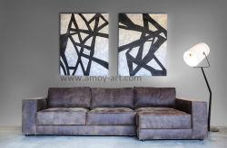 Полотно ручной работы черного и белого искусства стены оформлены группы картины маслом
