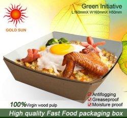 Caja de papel termo de alta calidad para la alimentación