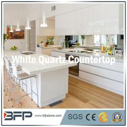 Comptoir Ktichen de pierre de quartz blanc avec facilité du traitement des bords