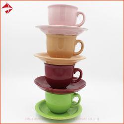 L'os de la Chine la tasse de café tasse soucoupe Set 280ml pour le Parti de l'Hôtel Restaurant de la Porcelaine tasse de thé ensemble tasse de café