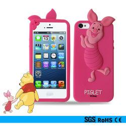 3D Piggie Cartoon Silicon Bumper Telefoonhoes voor iPhone 4G/5g/6g