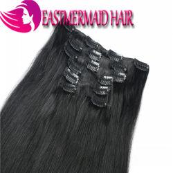 Черный бразильского Заколка Ins человеческого волоса добавочный номер