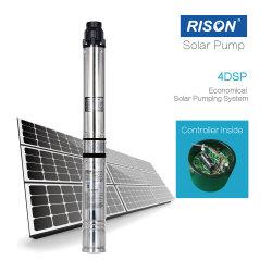 مضخة مياه تعمل بالطاقة الشمسية الطرد المركزي مقاس 4 بوصات مع وحدة تحكم داخلية (وصلة مباشرة للوحات الشمسية)