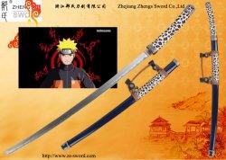 Espada japonesa - réplica de Naruto Uzumaki Espada Katana Cosplay Props