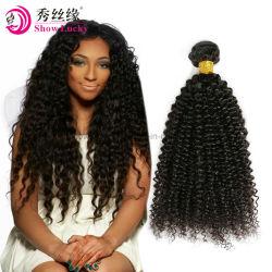 Raw original vierge non transformés de tissage de Cheveux humains indiens de haute qualité produits Remy Kinky les Cheveux Bouclés