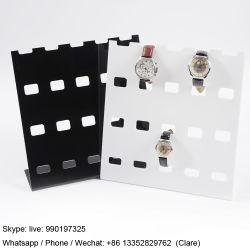 Il lusso guarda la mensola di visualizzazione acrilica dell'orologio della cremagliera di visualizzazione per la memoria