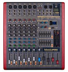 高精度の6つのチャネルの専門の可聴周波ミキサーPlx 6
