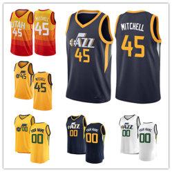 Hommes Femmes Youth Jazz Jerseys 45 Donovan Mitchell maillots de basket-ball