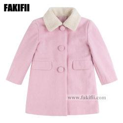 모직 외투 아이 겨울 의복이 중국 공장 형식 아이들 의복에 의하여 의류 소녀 분홍색 농담을 한다