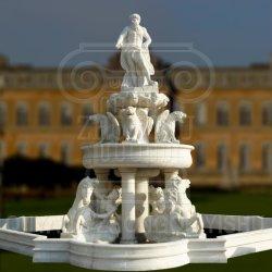 La nature en marbre blanc sculpté Grand Poséidon Fontaine à eau pour le jardin de sculpture