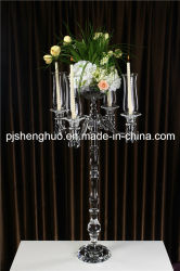 Tall Pilar removerei de cristal com suporte de flores para a Páscoa