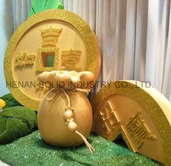 Espuma de grande moeda de ouro Props Shopping de Ano Novo Decoração de Layout
