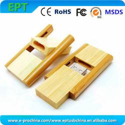 قرص ذاكرة مخصص للشعار، محرك أقراص USB محمول خشبي صغير (EW0113)