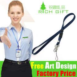 Commerce de gros de la promotion imprimés personnalisés cordon de téléphone mobile comme cadeau d'affaires