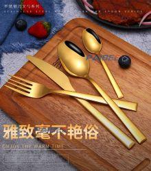 Mancha Paibee Steel Gold & Talheres de Fractius Conjunto Talheres Casamento Dinnerware / Mesa / Acessórios loiças